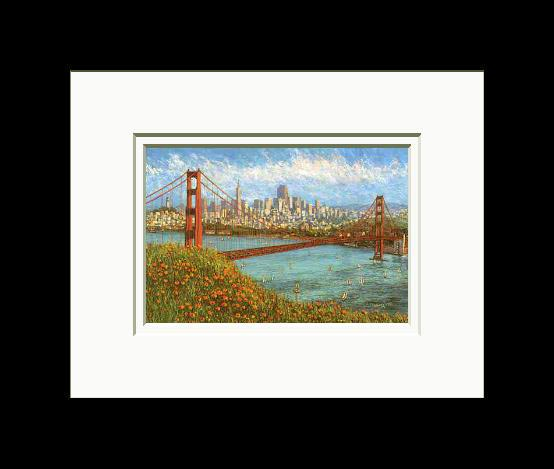 Anna Chrasta 8 X 10 Double Matted Art Prints Golden City