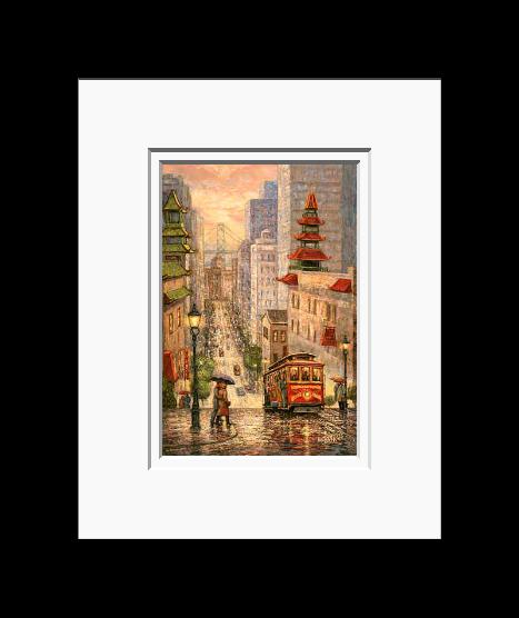Anna Chrasta 8 X 10 Double Matted Art Prints Rainy Day