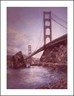 ANNA CHRASTA  EDITIONS  Handsigned-&-Numbered GOLDEN GATE NIGHT - Z916LE