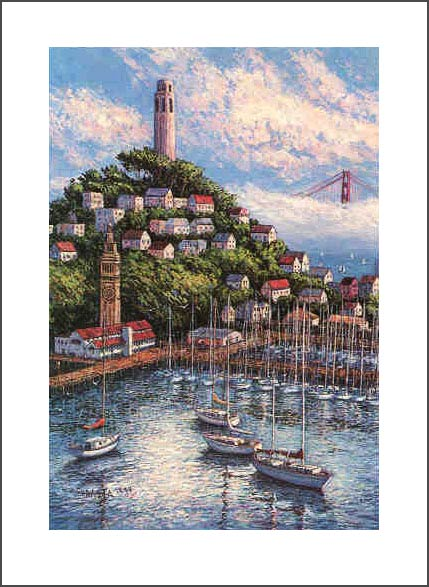ANNA CHRASTA  EDITIONS  Handsigned-&-Numbered COIT-TOWER II
