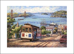 ANNA CHRASTA  EDITIONS  Handsigned-&-Numbered SAN-FRANCISCO PANORAMA