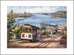 ANNA CHRASTA  EDITIONS  Handsigned-&-Numbered SAN-FRANCISCO PANORAMA - Z941LE