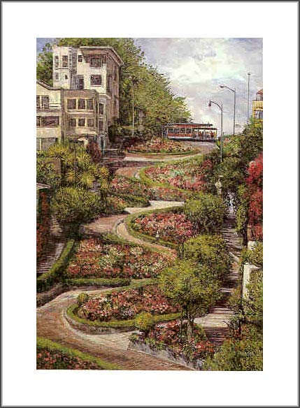 ANNA CHRASTA EDITIONS Handsigned-&-Numbered LOMBARD STREET