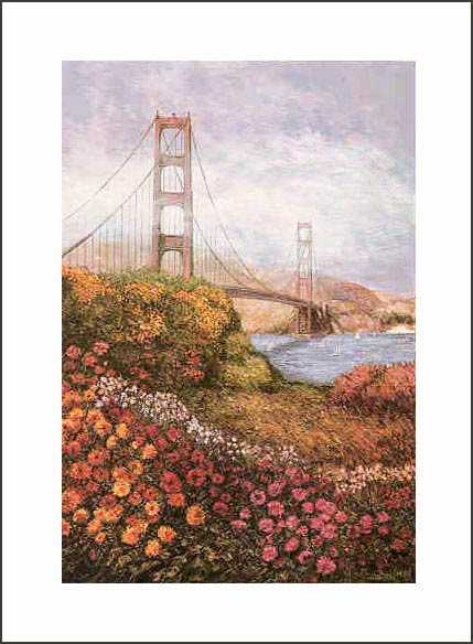 ANNA CHRASTA EDITIONS  Handsigned-&-Numbered GOLDEN GATE