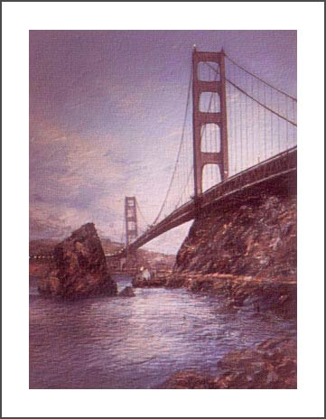 ANNA CHRASTA  EDITIONS  Handsigned-&-Numbered GOLDEN GATE NIGHT