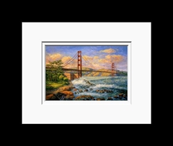 Anna Chrasta Matted 8X10 FORT POINT TWILIGHT