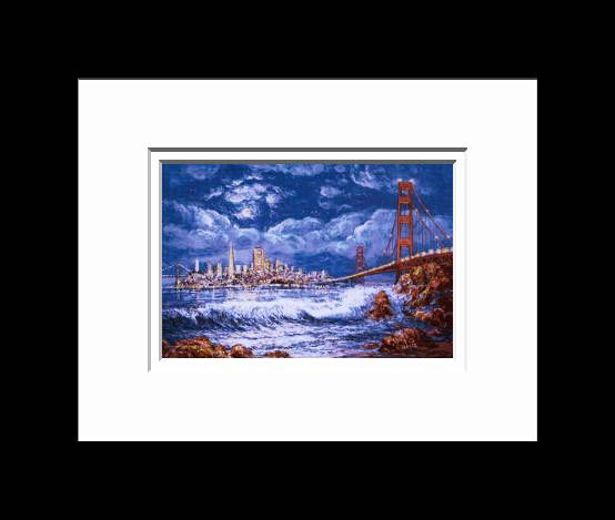 Anna Chrasta Matted 8X10 MOONLIT WAVE