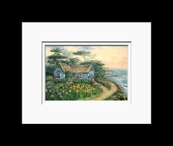 Anna Chrasta Matted 8X10 SEASIDE CARMEL COTTAGE