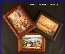 WOOD FRAMED PRINTS